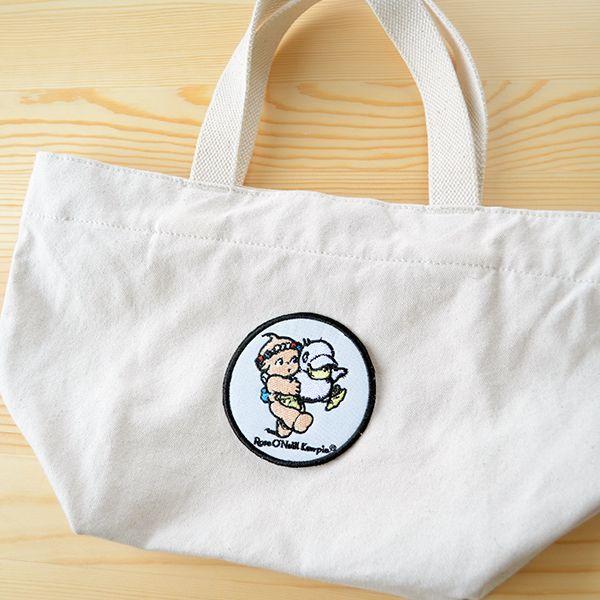 キャラクターワッペン Kewpie キューピー(ダックラウンド) トートバッグ 貼り付けイメージ