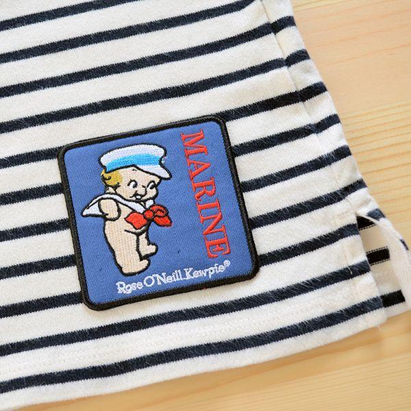 キャラクターワッペン Kewpie キューピー(マリンスクエア) ボーダーシャツ 貼り付けイメージ